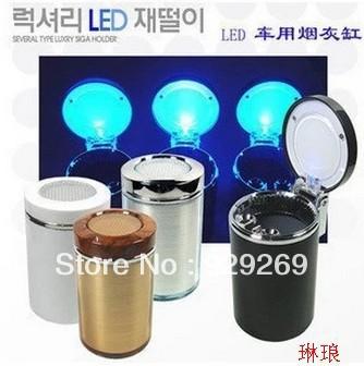 Free Shipping super cheap Japanese car ashtray with LED lights(China (Mainland))
