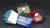Plastic house shaped  magnetic  clip with magnet on back and durable rubber grip,memo clip,