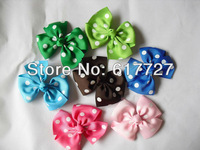 Girls' hair bow, Baby grosgrain ribbon hair bows, hairs clips, Bow hairpin,Dot bow barrette Hairbows