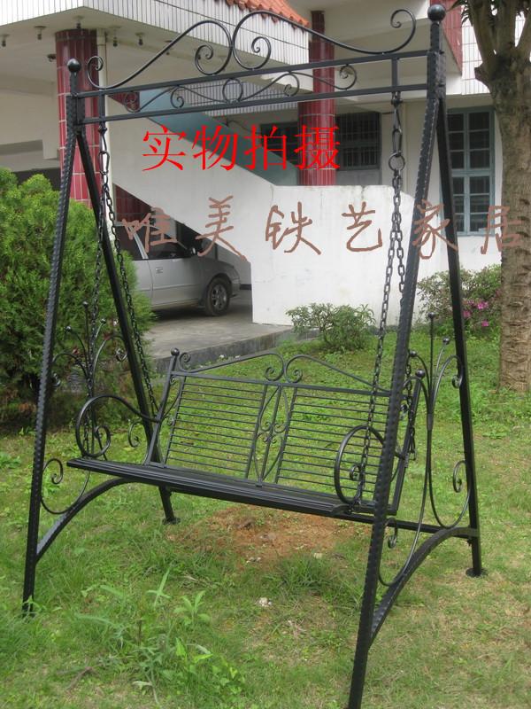 mobiliario jardim area:Balanço-de-ferro-de-mobiliário-de-jardim-cadeira-de-balanço