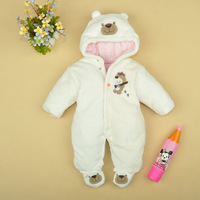 Retail 1 pcs Baby baby rompers winter thickening wadded clothes for newborn boys cotton jumpsuit children New CC0514