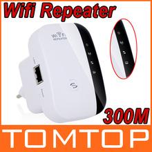 NOVO Wireless-N Wi-Fi Repeater 802.11n/g/b Rede Router Faixa Expander Signal Booster 300Mbps Ar Livre 300m 100m Indoor atualização(China (Mainland))