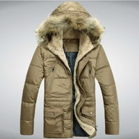2013 winter men's thickening military jacket,plus size casual nrand down jackets,Warm coat and jacket for men