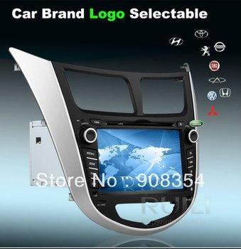Hyundai Solaris Verna  Car DVD Player Car Mp3 GPS Navigator Nnalog TV  2 Din 7 inch  Free Map Free SD  card