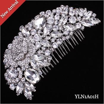12pcs/lot  Crystal Rhinestone Wholesale Hair comb 1A01 Handmade Bulk Sale Factory outlets Bridal Accessory,Women Wedding Jewelry