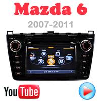 Car DVD for Mazda6 Mazda 6 GPS Car PC radio Multimedia 3G wifi Navigation DVR HD video audio player Factory Price Free Map card
