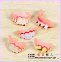 Halloween shock toys funny stage props style false teeth set