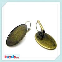 Beadsnice ID12112 fashion French Lever Back designer earrings of earring bezels Crankset earring base setting