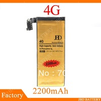Golden Battery For iphone 4G High Capacity Bussiness Battery 2200mAh 10pcs