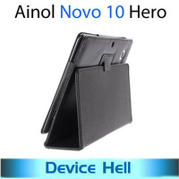 Luxury Original Stand leather case protective cover for Ainol NOVO 10 Hero 10.1 inch Dual core/quad core tablet Free shipping