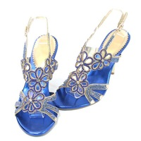 Free/Drop Shipping Italian Style Sexy Sandals with Thin Heels Rhinestones Shoes for Women