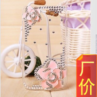 2013 hot-selling camellia rhinestone  DIY 3D phone case for mobile Samsung Galaxy S3 i9300 S4 i9500 Note 2