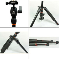 Free shipping BK-555 Portable Contractive Reflexed Tripod Camera Ball Head +Carrying Bag