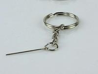 Ultra-light clay 25mm key ring keychain 9 needle 50pcs/lot