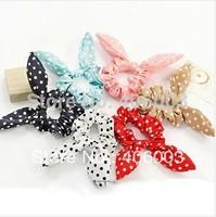 Free Shipping Korew Hair Accessories Cuts Rabbit Ear  Bow Girls Headbands  Polka Dot Hair Bands