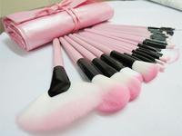 new 22Pcs pink brush set Professional Makeup Brushes With Pink Bag Free shipping