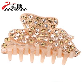 Luxury full rhinestone hair accessory rhinestone Large gripper hair accessory hair clip maker hair pin clip