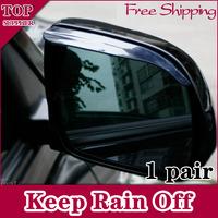 Free Shipping1Pair Soft Car Rear View Mirror Rain Shade Guard Black Clear Choose Color