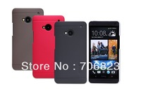 New 2014 Mobile phone cover 10pcs NILLKIN Super Frosted Shield case For HTC ONE M7 801E + screen protector + Retailed Package