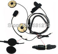 5pcs/lot Black Motorcycle Helmet Headset Earpiece for Phones Samsung Iphone HTC Blackberry High-quality New C0202A