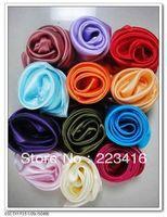 women square silk scarf square solid color scarves 100 % silk scarf  pure silk square scarf wholesale