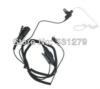 4 x 2 Pin Dual PTT Covert Acoustic Tube MIC Earpiece for QUANSHENG TYT BAOFENG UV5R 888S KENWOOD Radio Black New C0205A