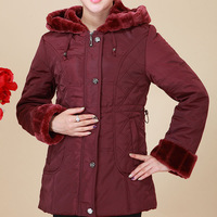 Free shipping winter 2013 new arrival women designer brand quilted fur hooded fashion plus  size down jacket outerwear coats