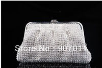 Hot star quality luxury handbags Czech Diamond Rhinestones Bag Clutch Evening Bag hand bag banquet bag Send free