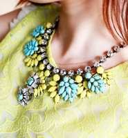 high quality 2014 design fashion shourouk style choker necklace for women length 48cm