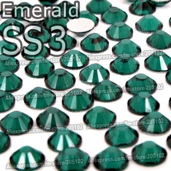 SS3 1.4mm Emerald green 1440pcs/bag Non HotFix Nail FlatBack Rhinestones DMC Glue on loose crystal DIY strass stone