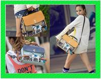 B171 Drop shipping New City Hunter blue pony retro Mobile Messenger dual-use handbag
