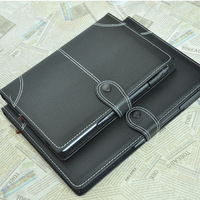 A5 belt strap pen notepad vintage faux leather diary book commercial book