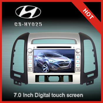 CS-HY025 7 inch 2-din car gps navigation/dvd player /car radio/audio ,Bluetooth,RDS,IPOD,SD FOR Inokom Santa Fe 2007-2012