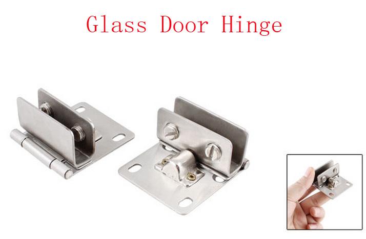 Bathroom 10mm Thickness Glass Door Hinge Silver Tone Set 4pcs(China (Mainland))