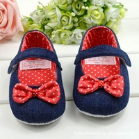 CL0169 High Quality Cheap First Walkers Baby Shoes, Soft Outsole Bow Dress Princess Baby Shoes, 3 Size To Choose