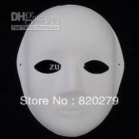 Wholesale - Women Paper Mache Plain White Masks DIY Fine Art Painting Masks Net weight 40g 10pcs/lot Free