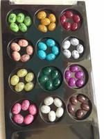 60PCS 12 colors oval shape 3D Turquoise Nail Art Decorations Flat Back Rhinestones Decoration Free shipping