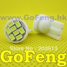 500pcs/lot white led T10 8 led smd 8SMD194 168 192 W5W 3020smd super bright Auto led car lighting wedge(China (Mainland))