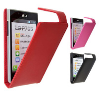 Doormoon brand Genuine Leather Flip case for LG Optimus L7/ P705,3 colors,Good quality,Free shipping