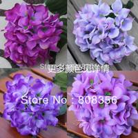 8pcs 55cm Length Silk Artificial Single Stem Hydrangea Pincushion Laurustinus Flowers Wedding Christmas Decorative Party Flower