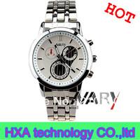 Men women nary sliver stainless steel quartz watch  , couple wrist watches, men business watches
