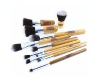 EDM 11pcs bamboo handle brush  Professional Makeup Brush Kit Soft Makeup Brushes Set Wholesale