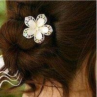 David jewelry wholesale  rhinestone crystal flower hair stick headband rhinestone hair comb (Min order $10 mixed order)
