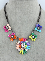 Shourouk necklace multicolour short design female fashion vintage gem