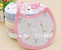 free shipping 100% cotton bab kids bibs lunch bibs/cute towel waterproof