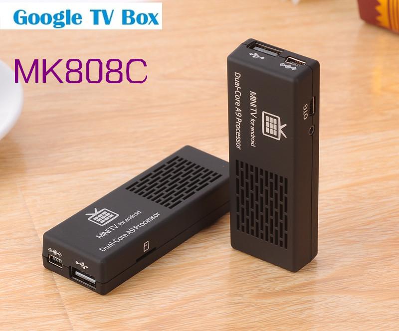 Updated version MK808C AV Port Android 4.2 TV Box Dual Core 1GB/8GB tv box android mini pc WiFi Bluetooth HDMI1080p Freeshipping(China (Mainland))
