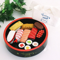 Mother garden strawberry wooden sushi series platter child Furniture Toys kid toys kitchen toys Pretend Play