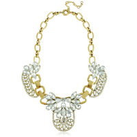 2014 Jewelry Crystal Encrusted Collar Statement Necklaces Choker Necklace for Women Free Shipping