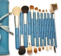 Color Shine-High Quality Persian Brush Set 17pcs blue animal hair professional makeup brush set Wholesale