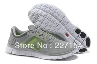 100% quality Men's free run 5 men's sneakers causel shoes free ship Size 40-46 white&grey&black